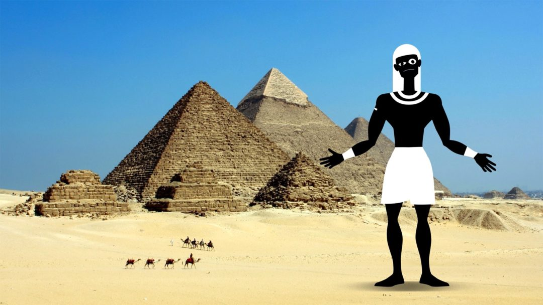 """Cover für die erste Folge von """"Frag den Ägypter!""""."""