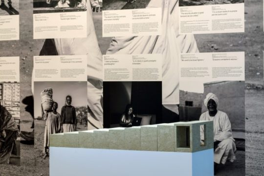 Modell des Naga-Museums auf der Architektur-Biennale