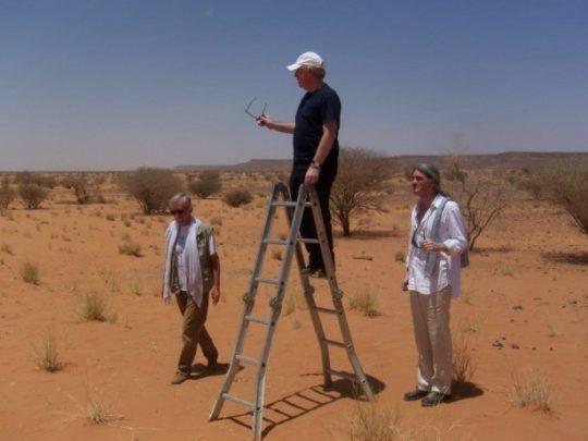 Sir David Chipperfield auf der Suche nach dem idealen Museumsstandort in der Wüste von Naga