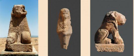 Widderfigur, Statue des Königs Natakamani und Löwenfigur