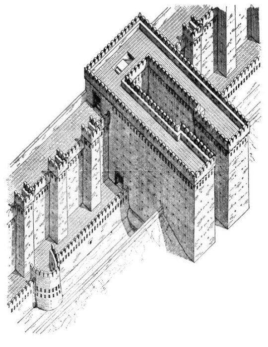Rekonstruktion des Westtores der Festung Buhen