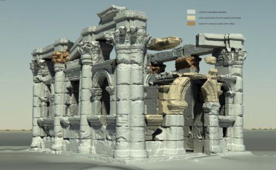 3D-Scan rendering of the Chapel of Hathor