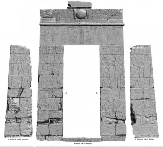3D-scan of passage A in the Temple of Amun