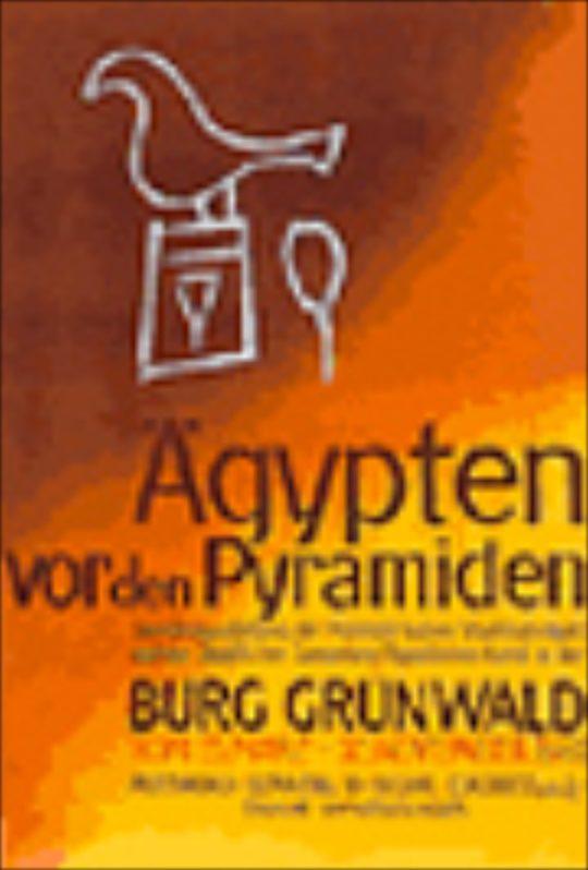 Plakat der Ausstellung Ägypten vor den Pyramiden