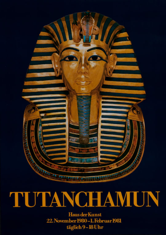 Plakat der Ausstellung Tutanchamun