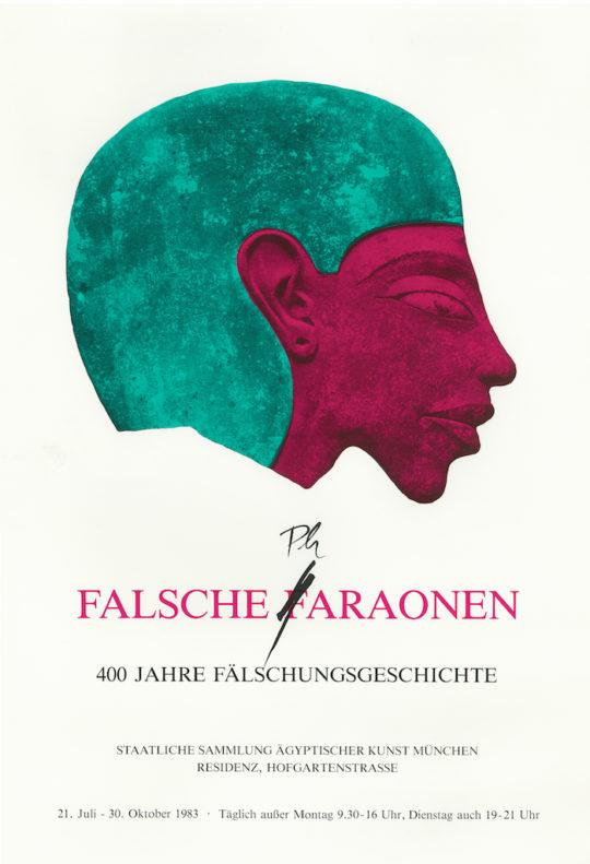 Plakat der Ausstellung '1983 Falsche Faraonen
