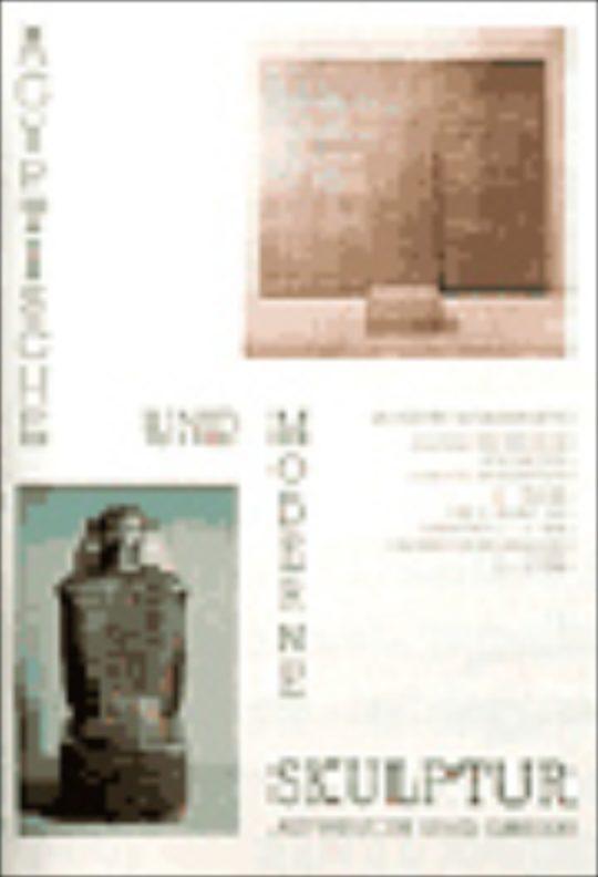 Plakat der Ausstellung Ägyptische und moderne Skulptur