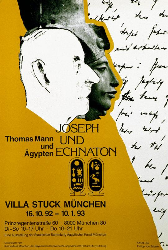 Plakat der Ausstellung Joseph und Echnaton
