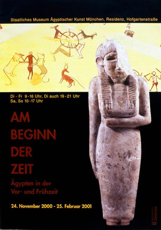 Plakat der Ausstellung Am Beginn der Zeit