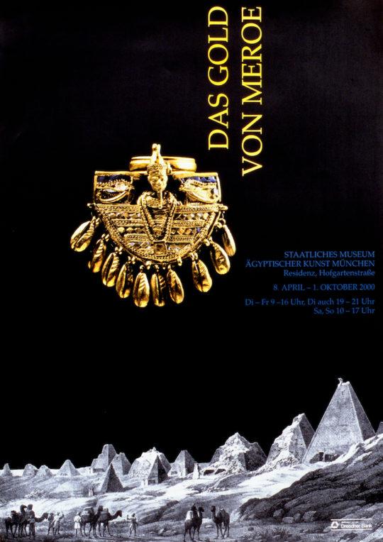 Plakat der Ausstellung Das Gold von Meroe