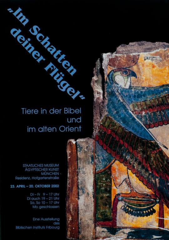 Plakat der Ausstellung Im Schatten Deiner Flügel