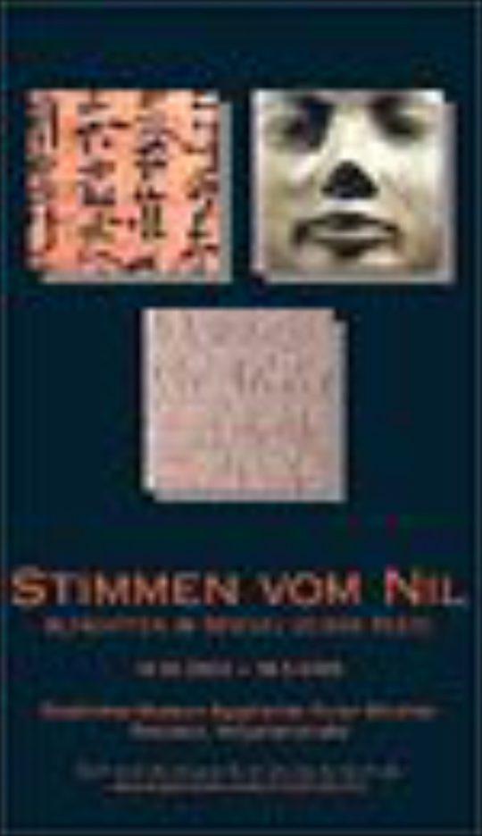 Plakat der Ausstellung Stimmen vom Nil
