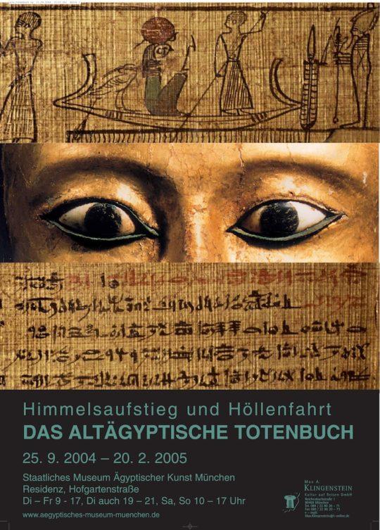 Plakat der Ausstellung Himmelsaufstieg und Höllenfahrt