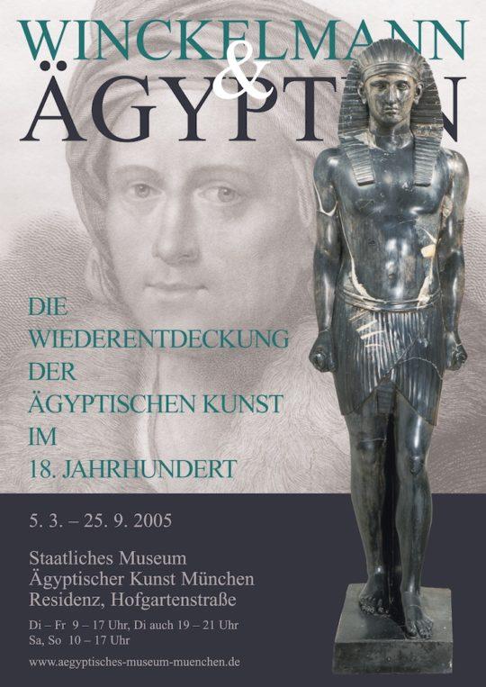 Plakat der Ausstellung Winckelmann und Ägypten