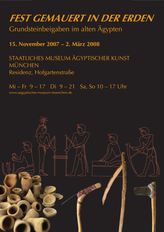 Plakat der Ausstellung Fest gemauert in der Erden