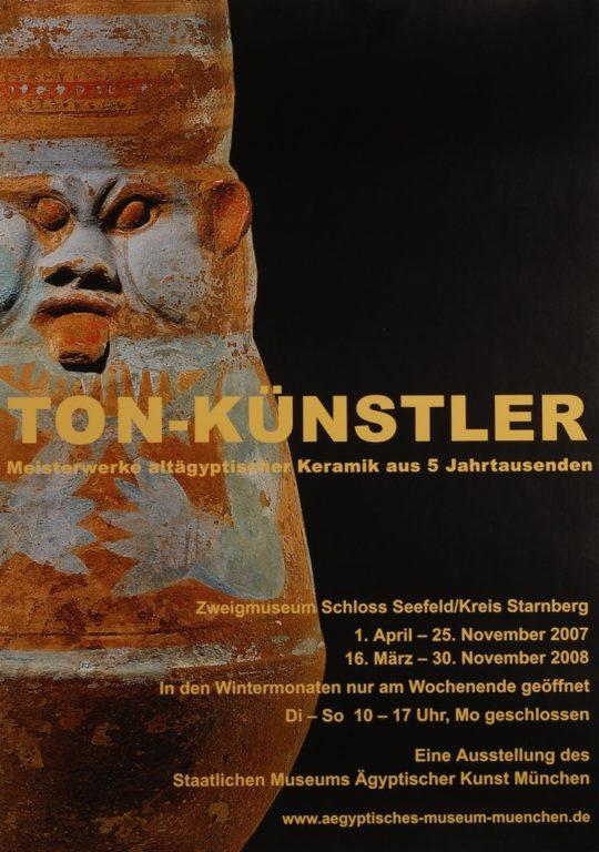 Plakat der Ausstellung Ton-Künstler
