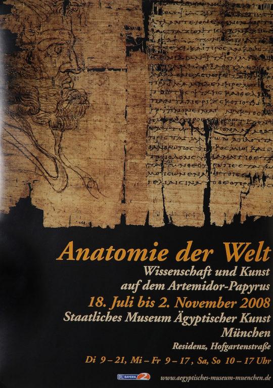 Plakat der Ausstellung Anatomie der Welt