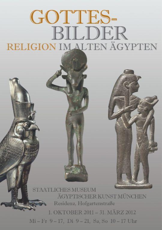 Plakat der Ausstellung Gottes - Bilder