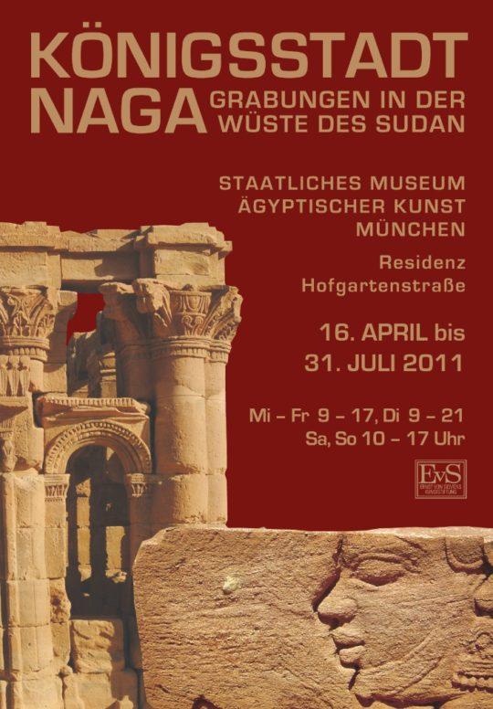 Plakat der Ausstellung Königsstadt Naga