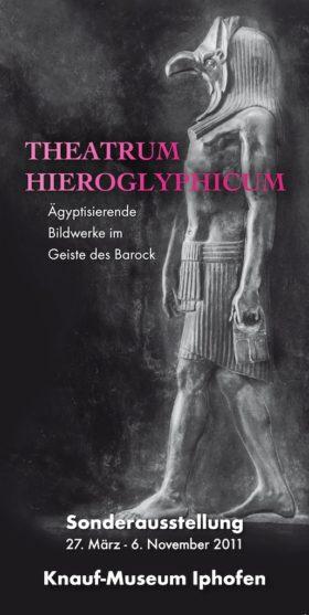 Plakat der Ausstellung Theatrum Hieroglyphicum