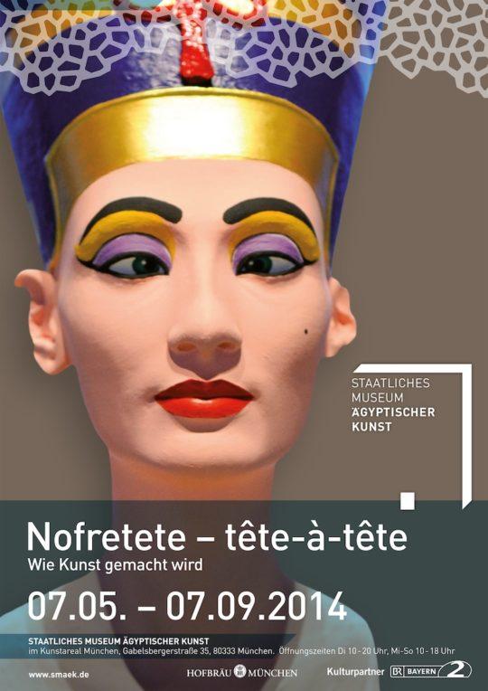 Plakat der Ausstellung Nofretete - tête-à-tête.