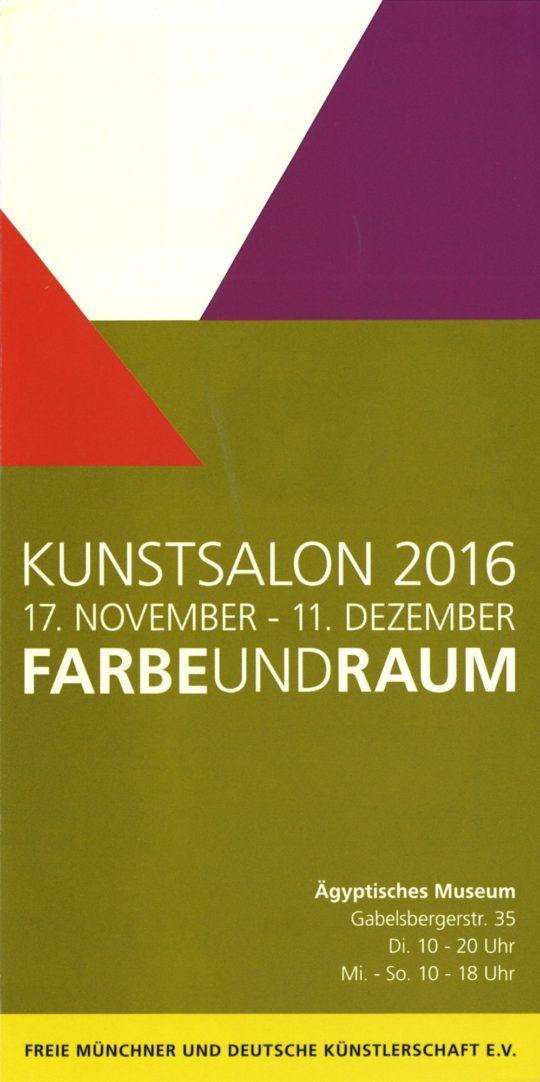 Plakat der Ausstellung Farbe und Raum