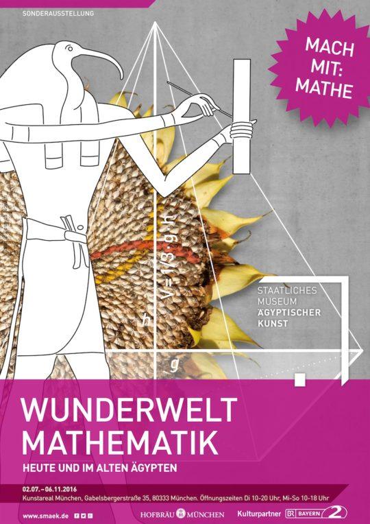 Plakat der Ausstellung Wunderwelt Mathematik
