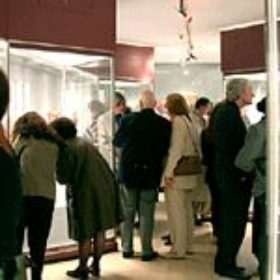 Erster Andrang in der Ausstellung