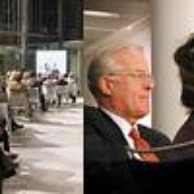 Impressionen vom Festakt und dem anschließenden Empfang. Dabei u.a.: Dr. Wolfram Peitzsch, Vorstandsmitglied des Freundeskreises, mit Gemahlin.