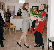 Gabi Ulrich überbringt Willkommensgrüße