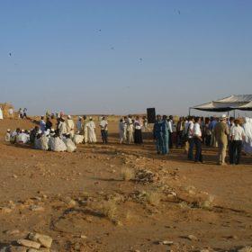 Fest in der Wüste 1. Dezember 2006, Ankunft der Gäste / Feast in the desert, Naga Dec. 1st 2006, arrival of the guests