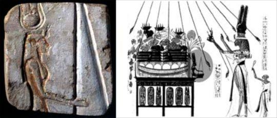 Fragment einer königlichen Beterstatue, Mittleres Reich, 12. Dynastie, Zeit Amenemhets IIII., um 1800 v. Chr.