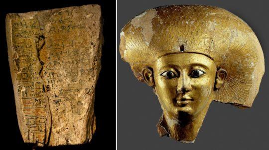 Fragment vom Sarg der Königin Sat-djehutj, Zweite Zwischenzeit, 17. Dynastie, um 1650 v. Chr.