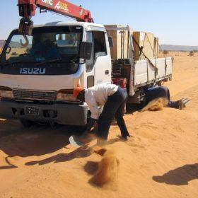 Auf dem Weg nach Khartum, kleine Panne