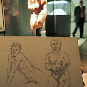 Zeichnung vor Objekt