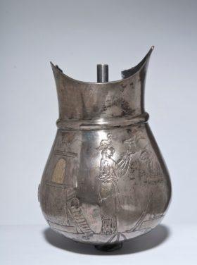 Silbersitula aus Pompeji