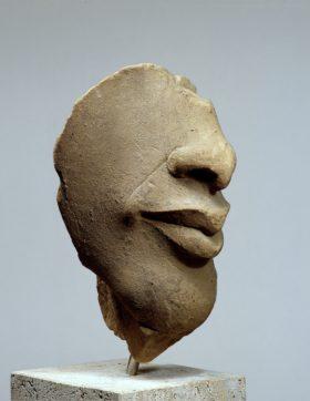Gesichtsfragment des Echnaton