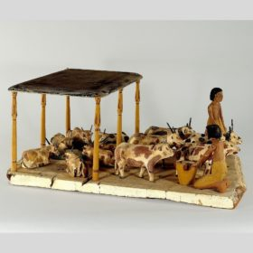 Modell: Rinderherde mit Hirten
