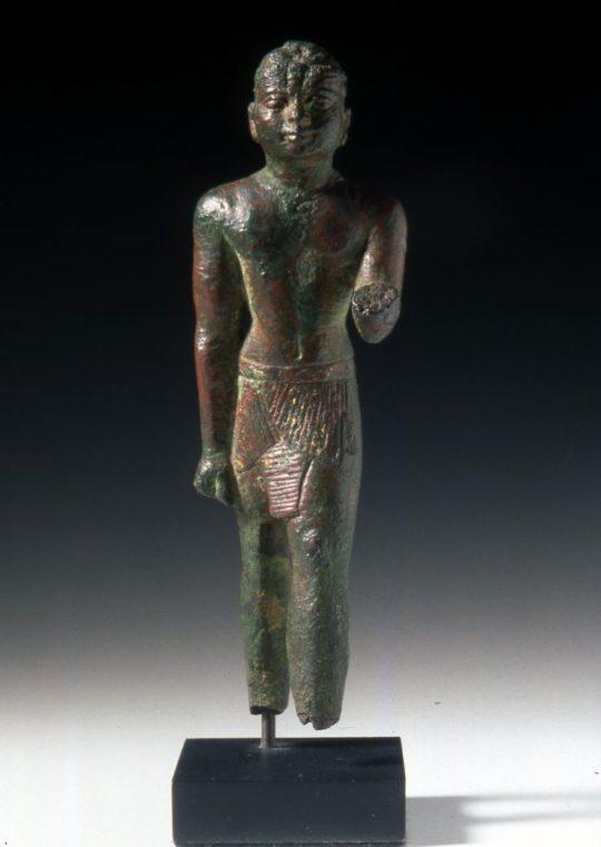 Bronzefigur stehender König