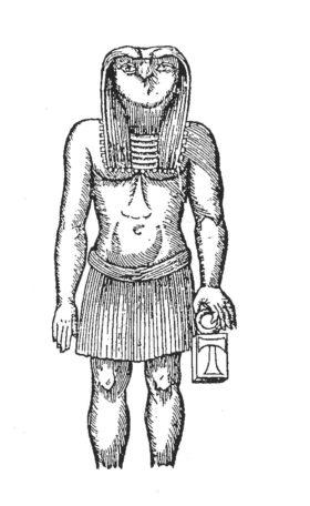 Zeichnung der Stand-Schreit-Figur nach Kircher