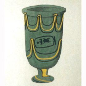 Zeichnung Lotoskelch des Thutmosis nach I. Rosellini