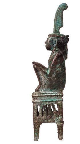Bronzefigur der Göttin Maat