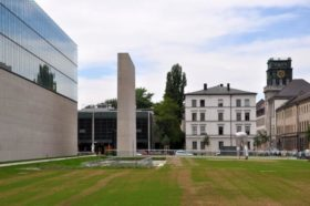 Außenansicht Portalwand Museumseingang