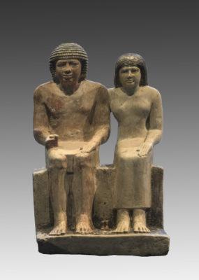 Gruppenstatue des Sabu und der Meritites
