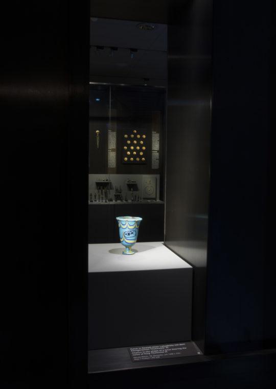 Glaskelch des Thutmosis im Raum Kunsthandwerk