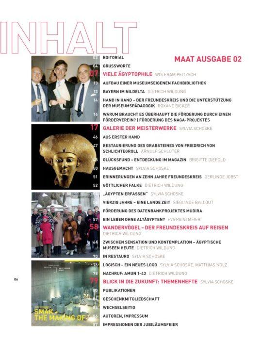 Inhaltsverzeichnis MAAT 02