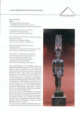Objektblatt Bronze-Amun