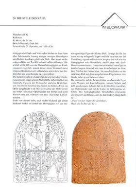 Objektblatt Stele des Kaha