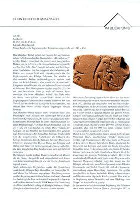 Objektblatt Amarna-Relief