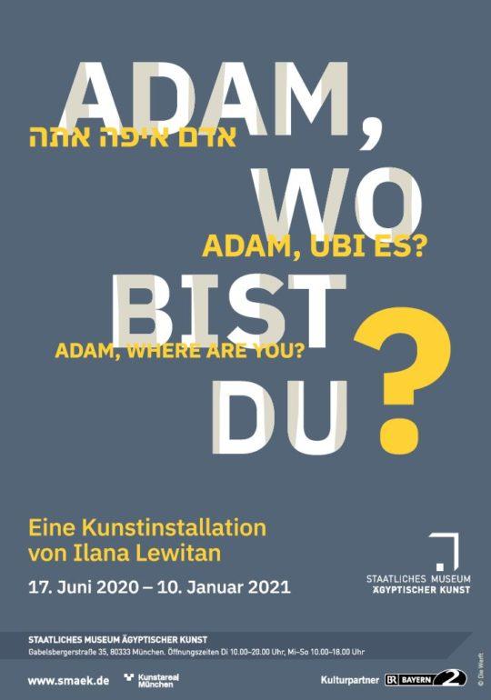 """Plakat der Ausstellung """"Adam, wo bist du?"""""""
